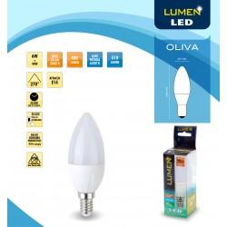 Lampada a Led Lumen Led Oliva Lc 6W E14