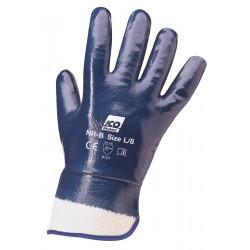 Guanto ICO in nitrile su supporto maglia di cotone Interlock