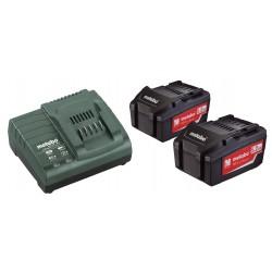 Batterie Metabo Set di Base 2 x 5,2 Ah+caricabatterie