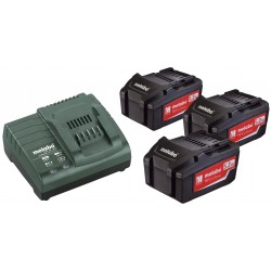 Batterie Metabo Set di Base 3 x 5,2 Ah+caricabatterie