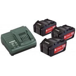 Batterie Metabo Set di Base 3 x 4,0 Ah+caricabatterie