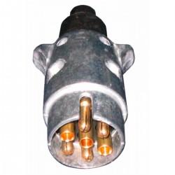 Spina 7 poli 12V in alluminio